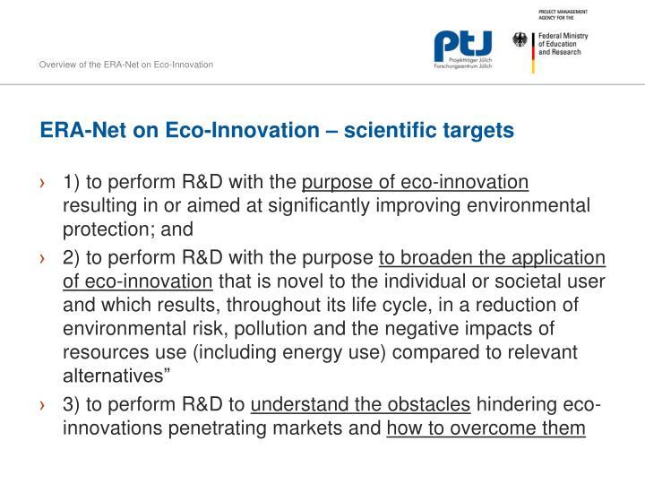 ERA-Net on Eco-Innovation –