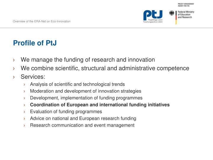Profile of PtJ