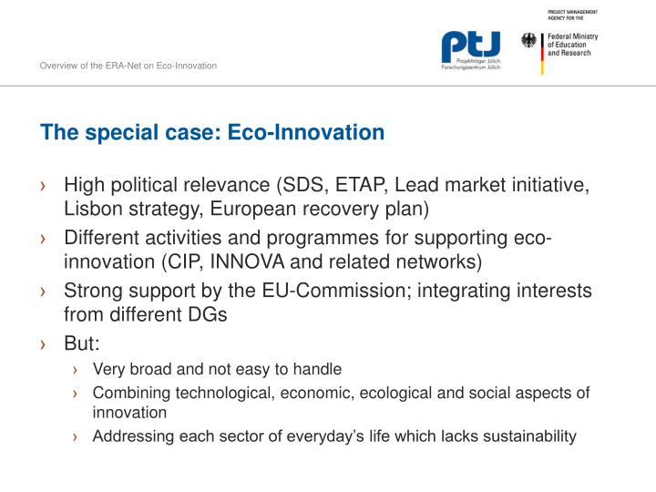 The special case: Eco-Innovation