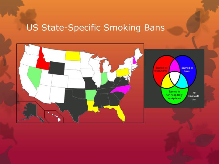 US State-Specific Smoking Bans