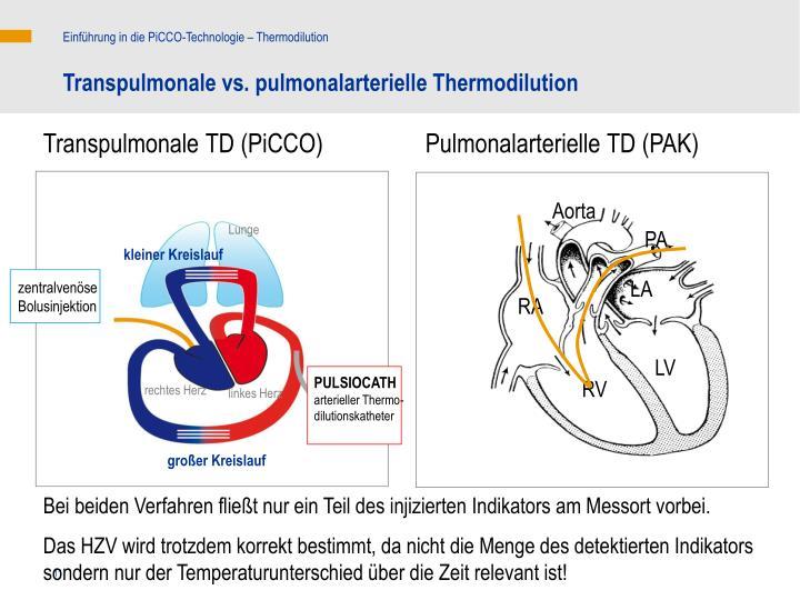Einführung in die PiCCO-Technologie – Thermodilution