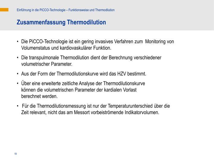 Einführung in die PiCCO-Technologie – Funktionsweise und Thermodilution