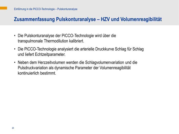 Einführung in die PiCCO-Technologie – Pulskonturanalyse