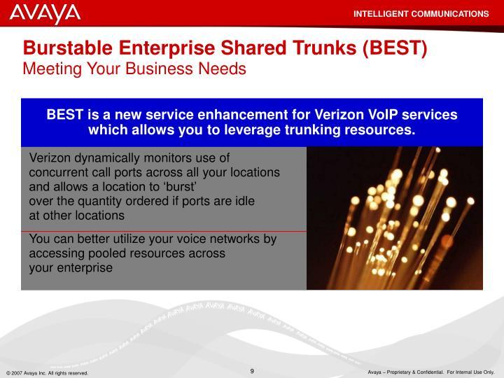 Burstable Enterprise Shared Trunks (BEST)