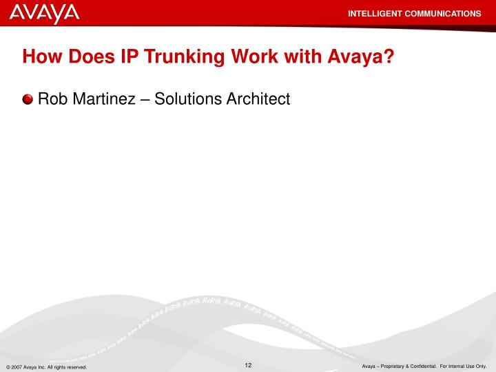 How Does IP Trunking Work with Avaya?