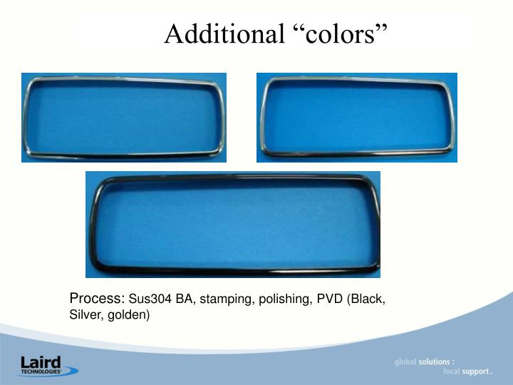 """Additional """"colors"""""""