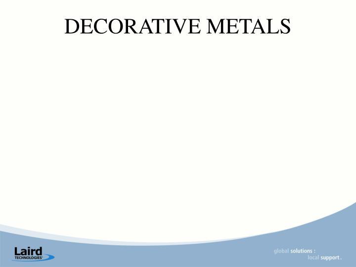 DECORATIVE METALS