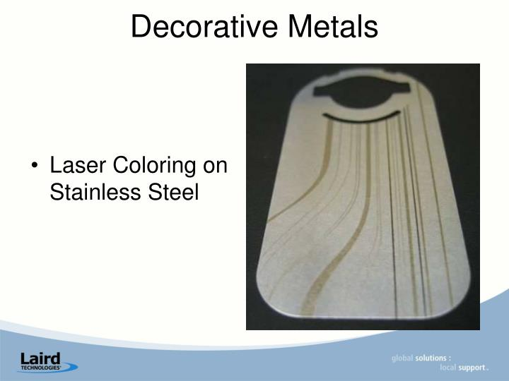 Laser Coloring on Stainless Steel