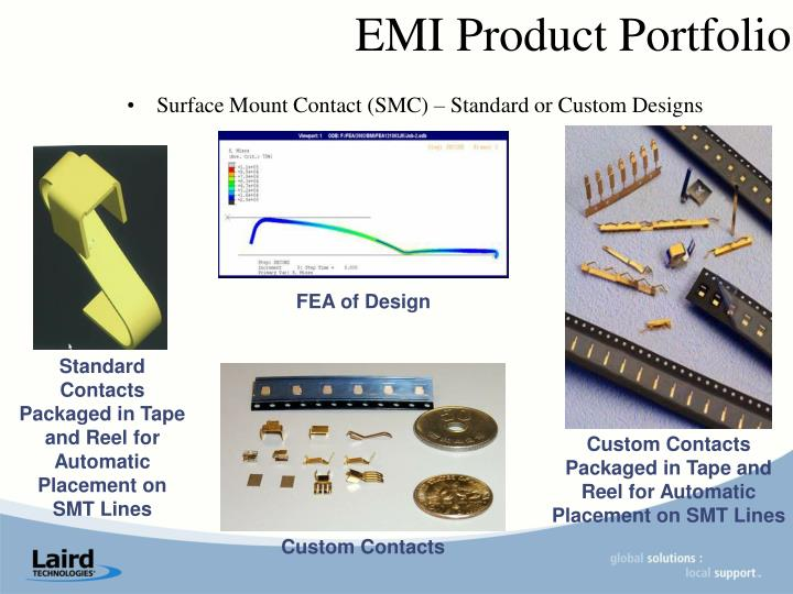 Surface Mount Contact (SMC) – Standard or Custom Designs