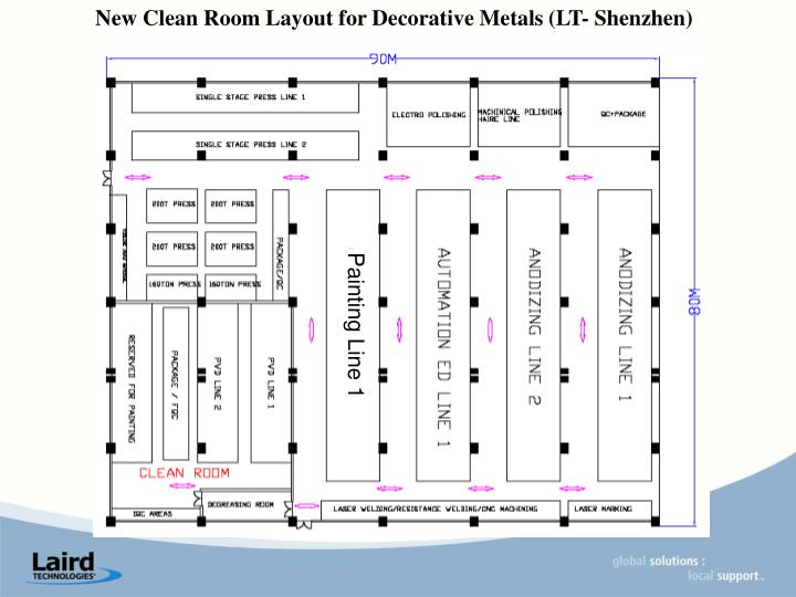 New Clean Room Layout for Decorative Metals (LT- Shenzhen)