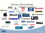 serving a diverse range of leading global companies