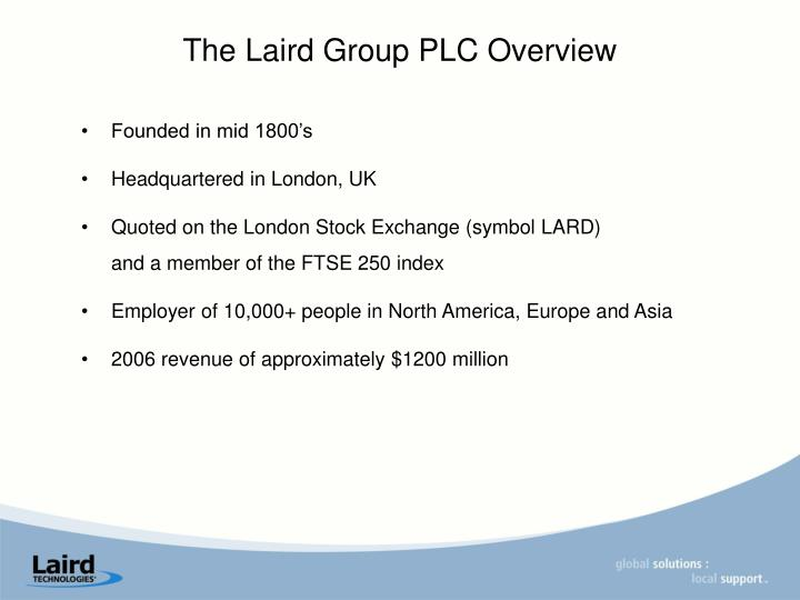 The Laird Group PLC Overview