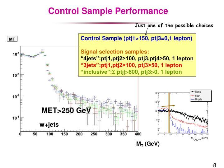 Control Sample Performance