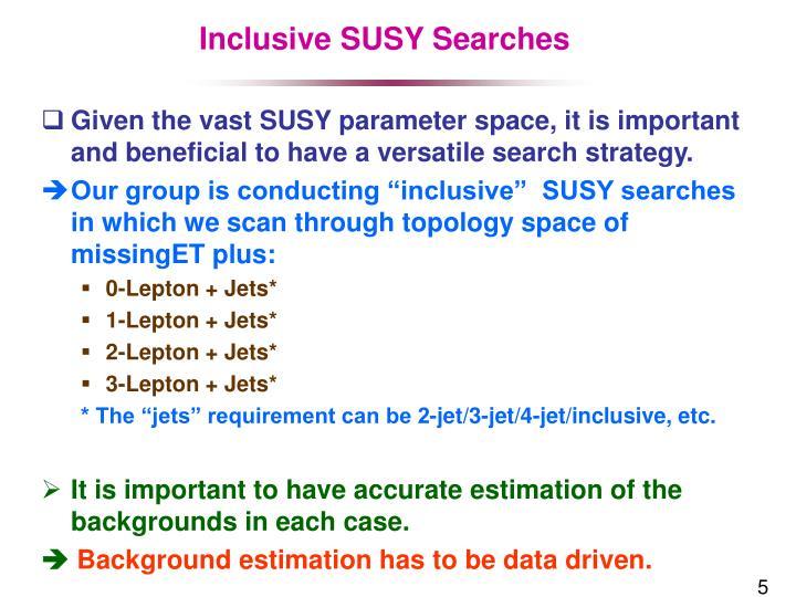 Inclusive SUSY Searches