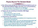 physics beyond the standard model