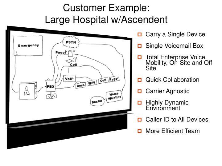 Customer Example: