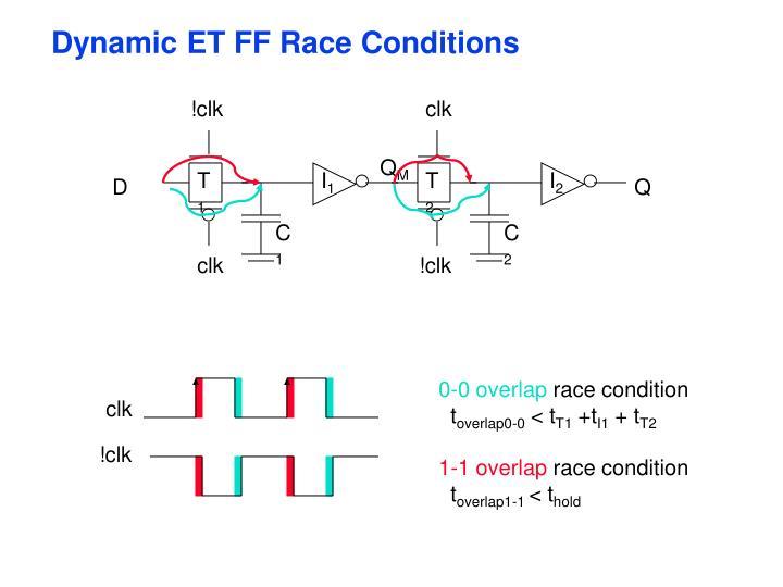 Dynamic ET FF Race Conditions