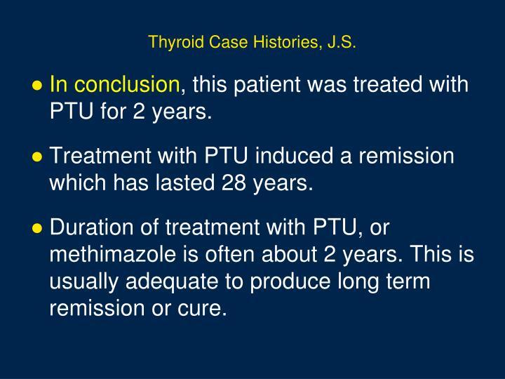 Thyroid Case Histories, J.S.
