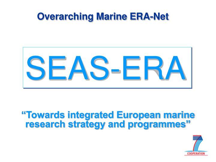 Overarching Marine ERA-Net