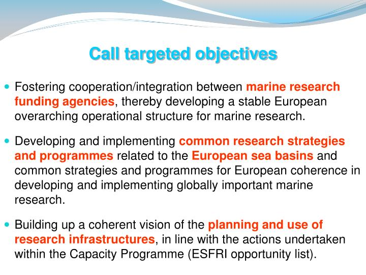 Call targeted objectives