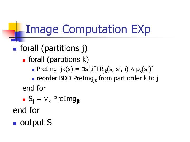Image Computation EXp