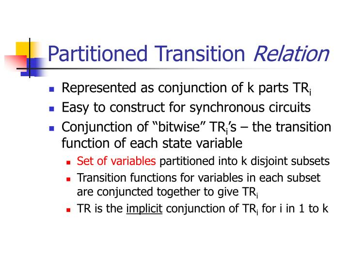 Partitioned Transition