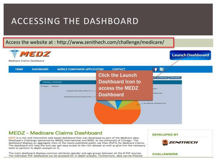 Accessing the dashboard