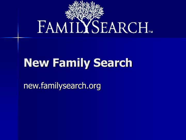 New Family Search
