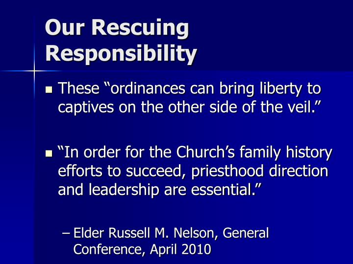 Our Rescuing Responsibility