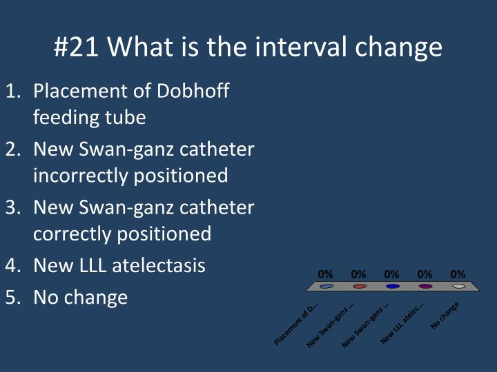 #21 What is the interval change