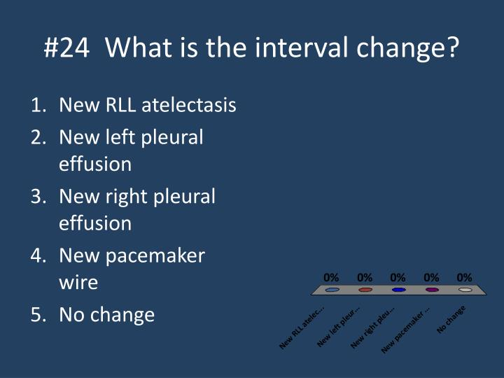 #24  What is the interval change?