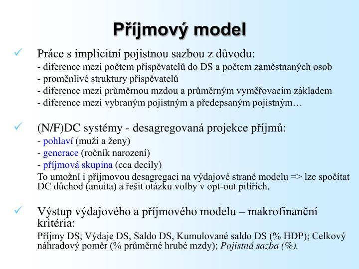 Příjmový model