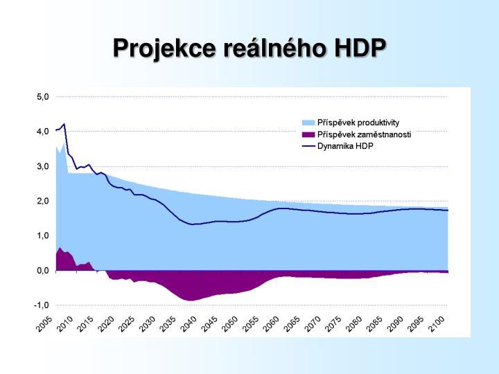 Projekce reálného HDP