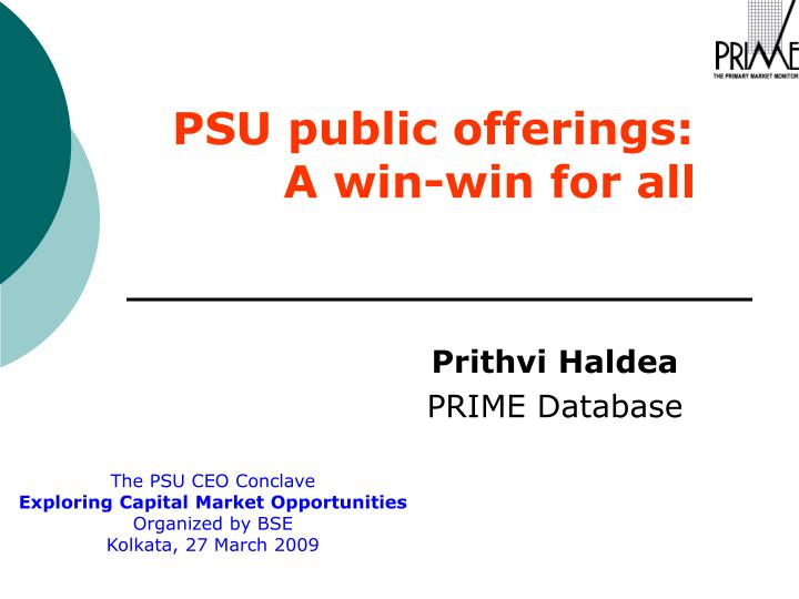 psu public offerings a win win for all