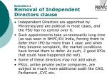 relaxation 1 removal of independent directors clause