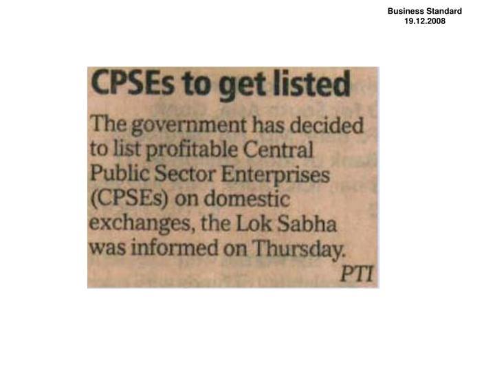 Business Standard                 19.12.2008