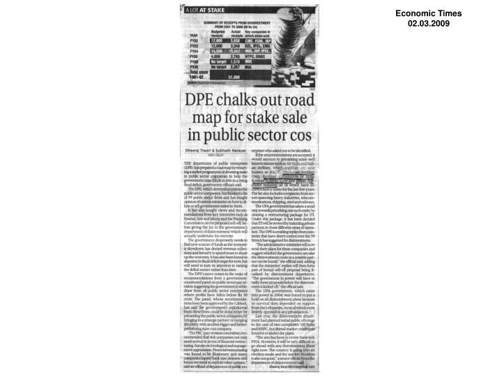 Economic Times  02.03.2009