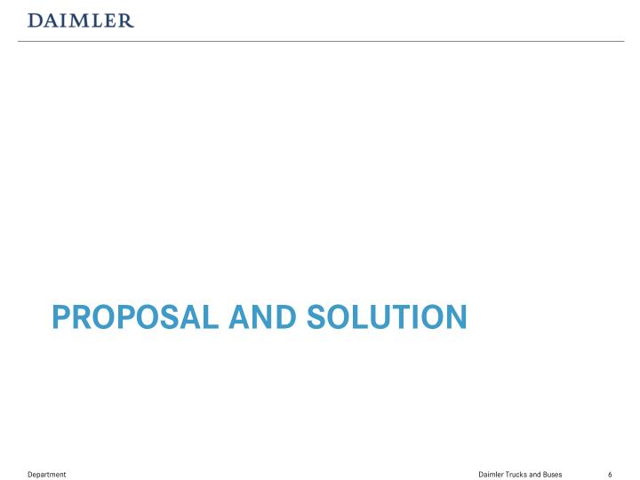 Proposal and Solution
