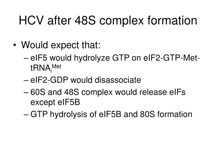 HCV after 48S complex formation