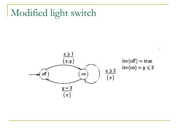 Modified light switch