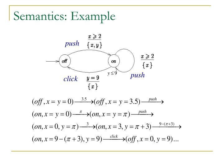 Semantics: Example