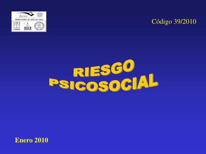 Código 39/2010