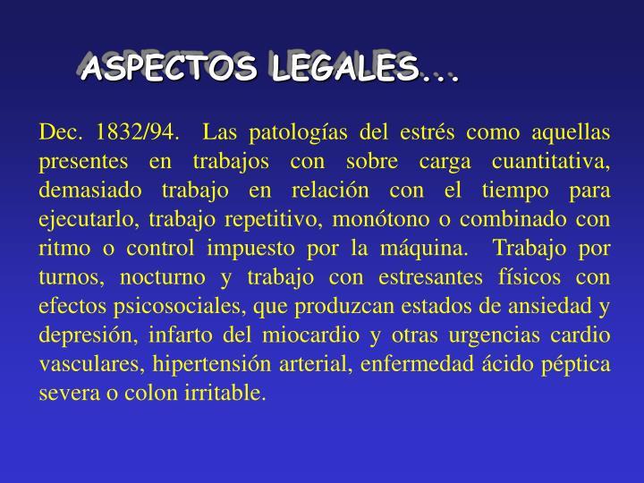 ASPECTOS LEGALES...
