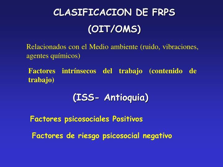 CLASIFICACION DE FRPS