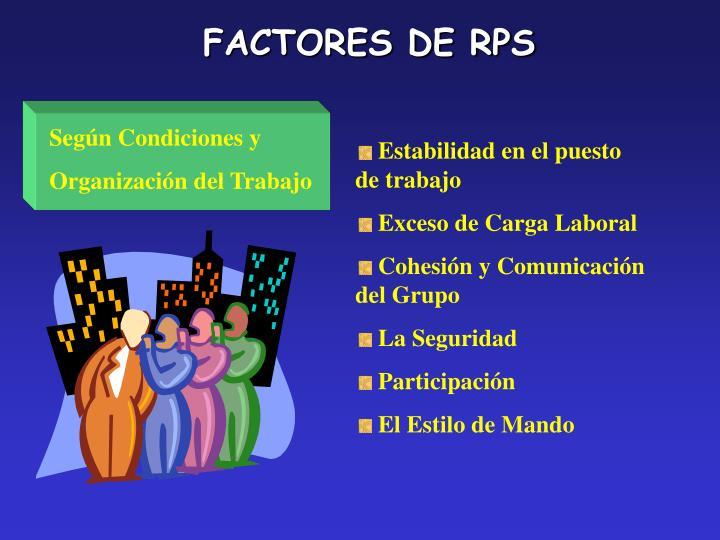 FACTORES DE RPS