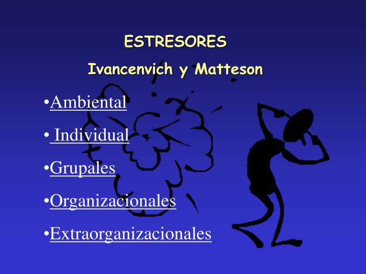 ESTRESORES