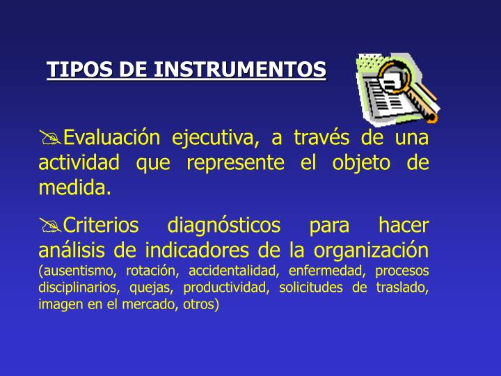 TIPOS DE INSTRUMENTOS