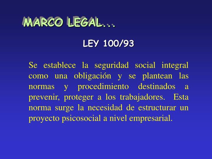 MARCO LEGAL...