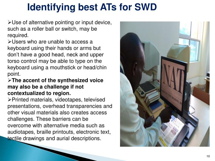 Identifying best ATs for SWD