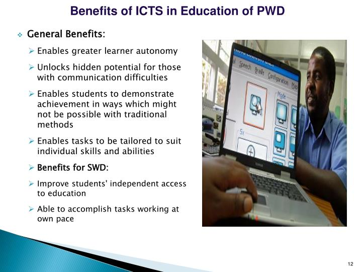 Benefits of ICTS in Education of PWD
